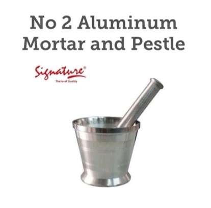 Aluminum mortar and pestle image 1