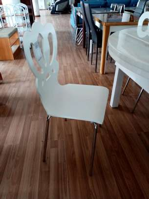 White dining chair image 1