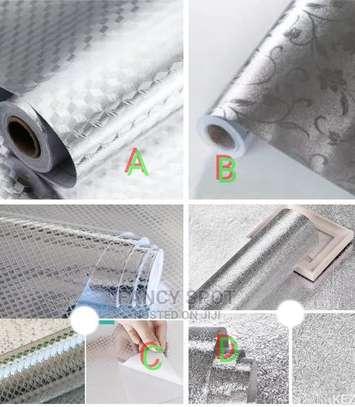 Self Adhesive Sticking Aluminium Foil Kitchen Drawer Shelf image 1