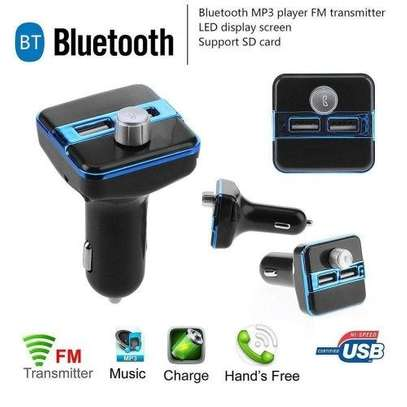 Multifuntion Wireless Car MP3 Player - Black And Blue