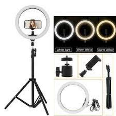 Selfie LED Ring Light 12 Inch With Tripod Stand image 1