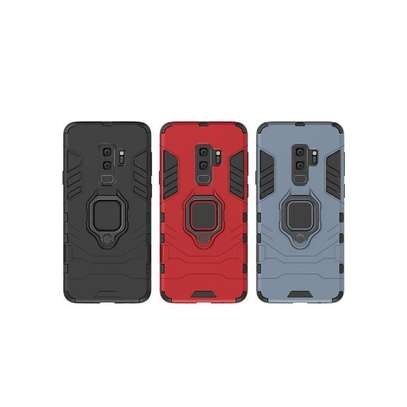 Galaxy S9 Phone Case Soft Silicone Case For Samsung Galaxy Magnetic Finger Ring Case Cover Armor Back Coque-Navy image 7