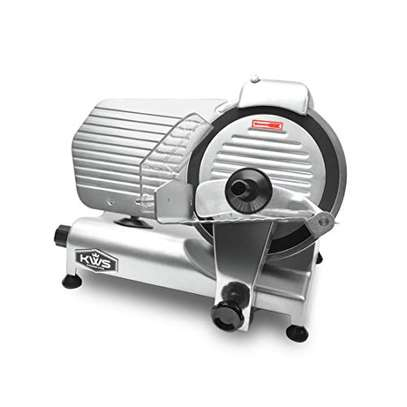 """Food and Meat Slicer 10"""" Blade Big Sliced Meat Exit Behind the Machine for Slice Meat Sliding Out Quickly image 1"""