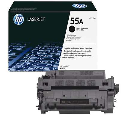 HP 55A Black Original LaserJet Toner Cartridge (CE255A) image 2