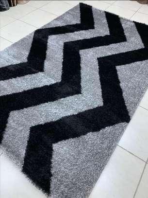 shaggy Turkish carpets grey and black image 1