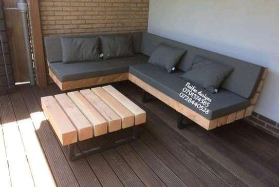 Six seater outdoor furniture/outdoor furniture designs/pallets/sofas/modern outdoor furniture image 1
