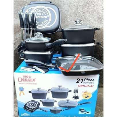 21Pcs Imperial Non-Stick Die Cast Cookware Set image 1