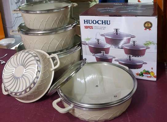 10 pieces Granite Coated Cookware Set image 1