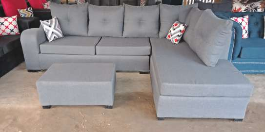 Light Grey Sectional Sofa.