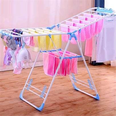 Outdoor clothing drying rack image 1