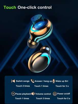 F9-5 8D HiFi Stereo True Wireless Earbuds with HD Mic, Extraordinary Bass Music, IPX7 Waterproof Headsets with power bank image 5