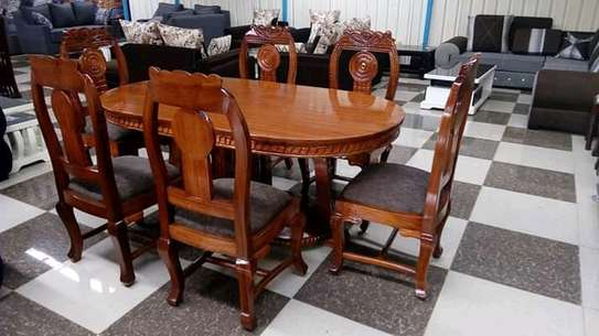 Solid mahogany dining tables(6 seaters) image 1