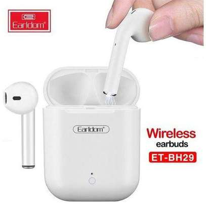 Wireless Earbuds Touching Headset - White image 2