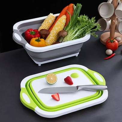 3 In 1 Foldable Chopping Board, Drainer & Basket image 1