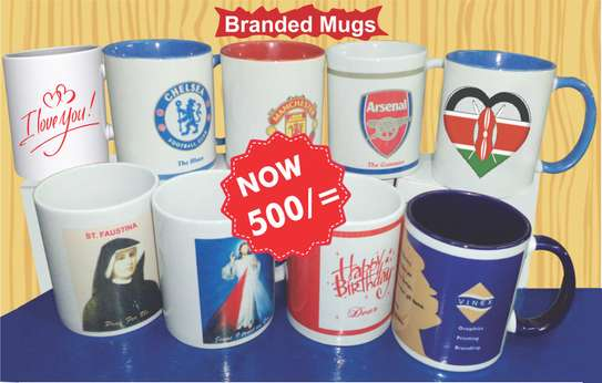 CUSTOM BRANDED MUGS  BOTTLES &THERMOS