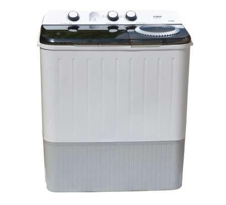 MIKA Washing Machine, Semi-Automatic Top Load, Twin Tub, 9Kg, White & Grey image 2