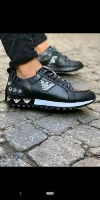 Black Versace designer sneakers image 1