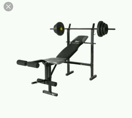 Adjustable new gym bench with weights