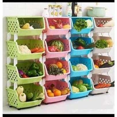 4 Tier Kitchen Fruit/ Vegetable Storage Rack. image 1