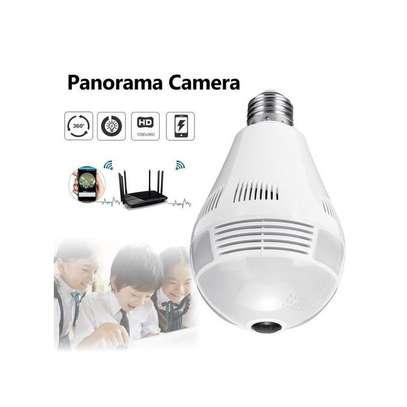 Generic Smart 360° Panorama Fish eye Camera Lamp IP CCTV Monitor Light Bulb WIFI Night Vision image 1