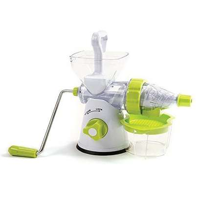 Manual Fruit and Vegetable Juicer – White And Green image 1