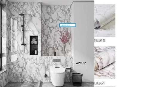 Elegant Marble Kitchen Contact paper design image 3