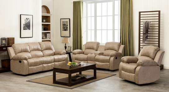 Veria 6 Seater Recliner in Beige