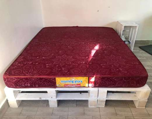 Both pallete bed and mattress on sale. image 2
