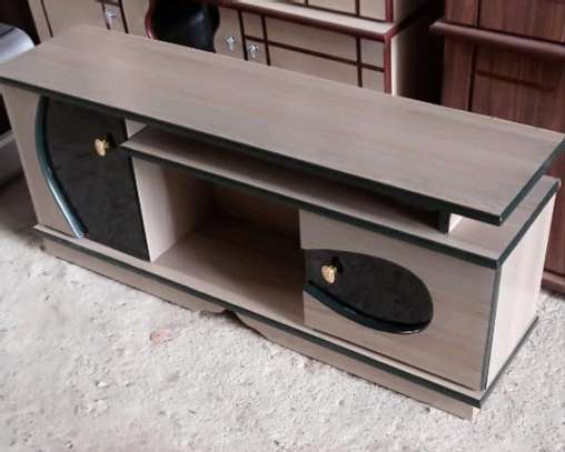 Sitting room TV stand furniture with doors image 1