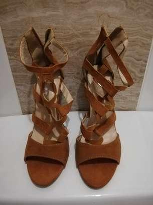Brown suede heels s.37 image 1