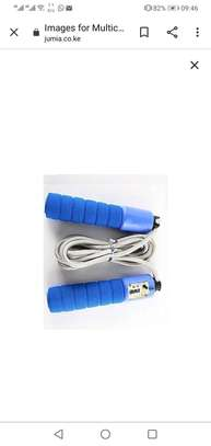 Multicolored Skipping Rope With Digital Counter image 1