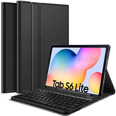 Detachable Wireless bluetooth Keyboard Kickstand Tablet Case For Samsung Galaxy Tab S6 Lite 10.4 inches image 1