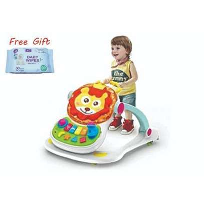 Huanger 4 in 1 Multifunctional Baby Walker-Multicolor plus free gift image 1