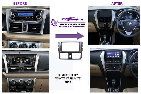Double Din Stereo Fascia Panel For Toyota Vitz Or Vios 2013+