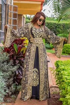 Belted Kaftan Dress & Matching Kimono image 1