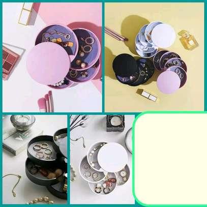 Round unique jewelry organiser rotatable image 1