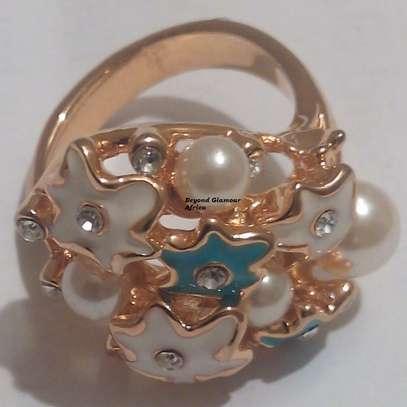 Women statement ring wedding bridal jewelry ring image 2