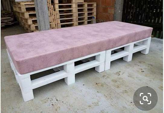 4 SEATER PALLET BENCH WITH CUSHIONS