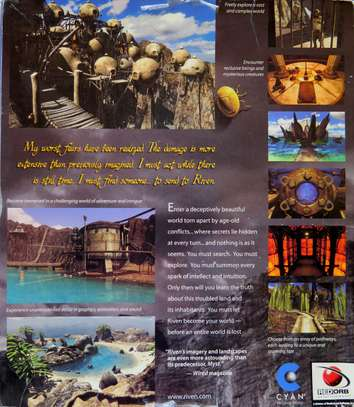 """""""RIVEN"""" THE SEQUEL TO MYST / ORIGINAL COMPUTER GAME! image 3"""