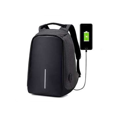 Anti Theft Backpack with USB-charging-Black image 1