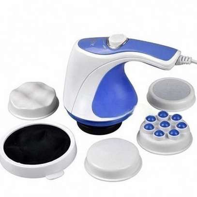 Great Relax & Spin Tone Slimming Toning & Relaxing Body Massager - White And Blue image 1
