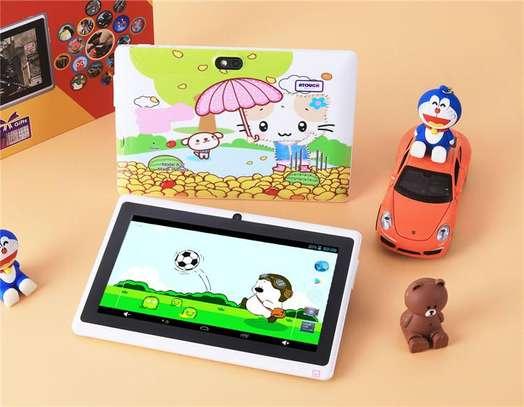 Kids Tablet -1GB RAM 8GB ROM Cartoon Themed- WIFI Enabled image 1