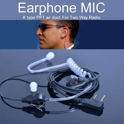 Acoustic earphones for walkie talkies / tube earphones image 1