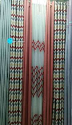 patterned double sided curtains image 1