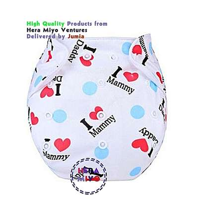 3 piece Washable Reusable Adjustable Baby Diaper with 3 Insert image 4