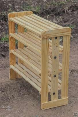 Wooden shoe racks image 1