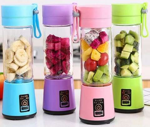 Latest Portable Blender Juicer,Mixer,USB Rechargeable, 380ml-Green image 1