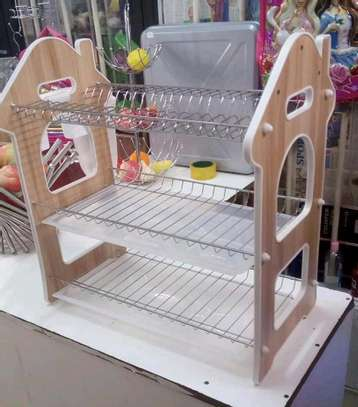 3 Layer Dish Rack (wooden) image 1