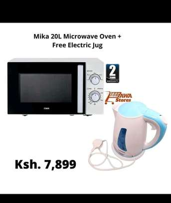 microwave with free electric kettle image 1