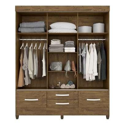 Wardrobe with 4 Drawers & 3 Sliding Doors image 2